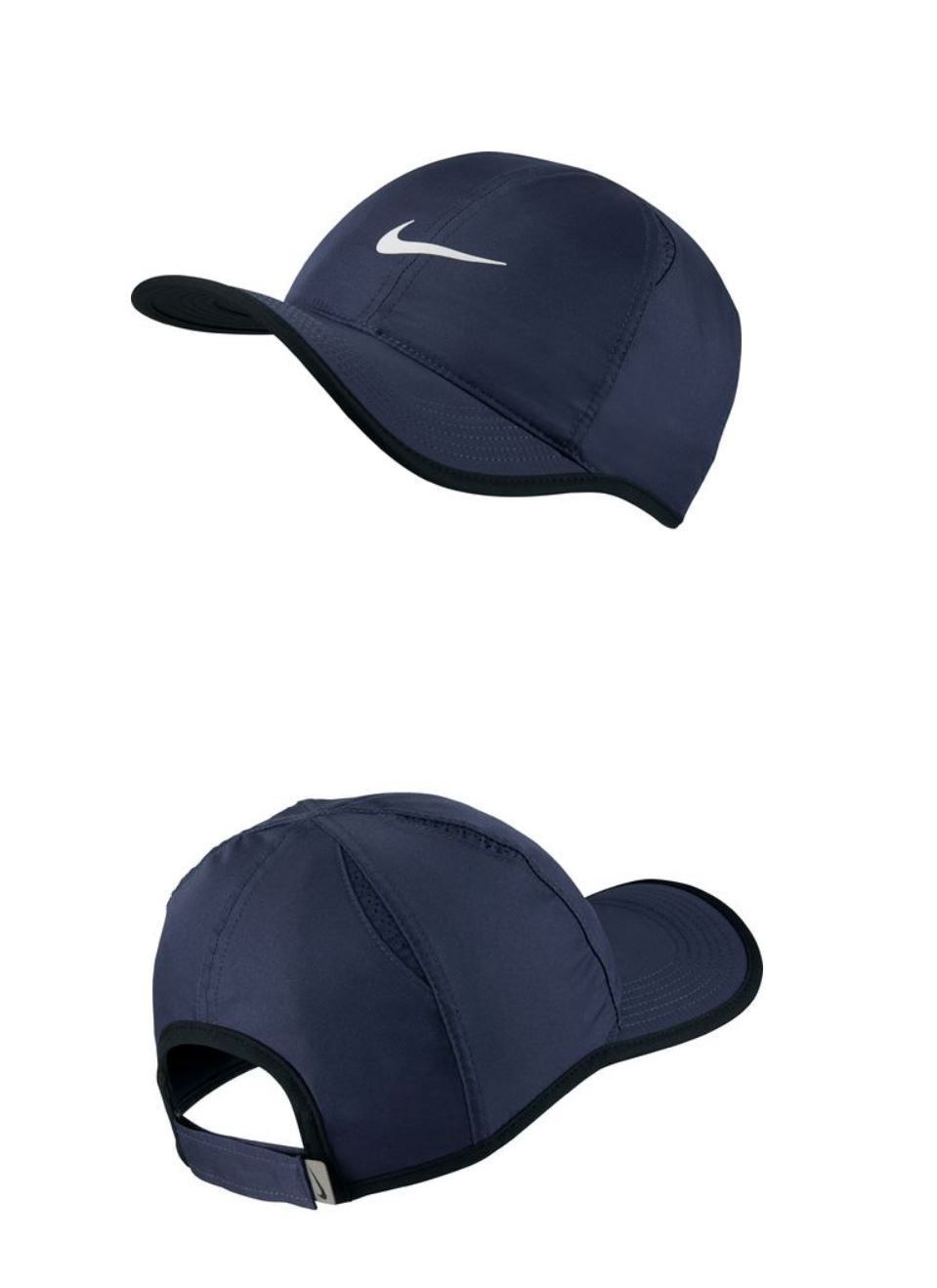 ebb8231f37d Clothing 70898  Nike Men S Featherlight Hat Blue White Black Swoosh Adjustable  Cap 679421 New -  BUY IT NOW ONLY   21.95 on eBay!