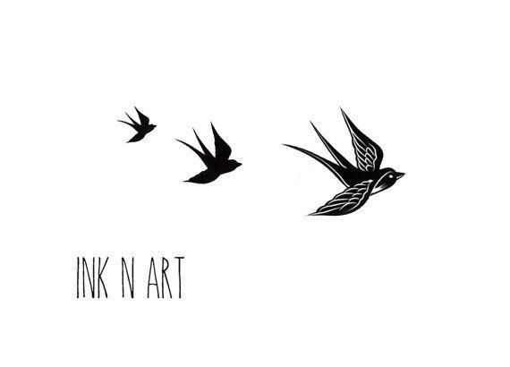 Awesome black three flying birds tattoo design tattoo awesome black three flying birds tattoo design urmus Gallery