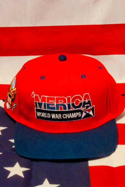 20 `Merica world war champs hat  71f4f51598d