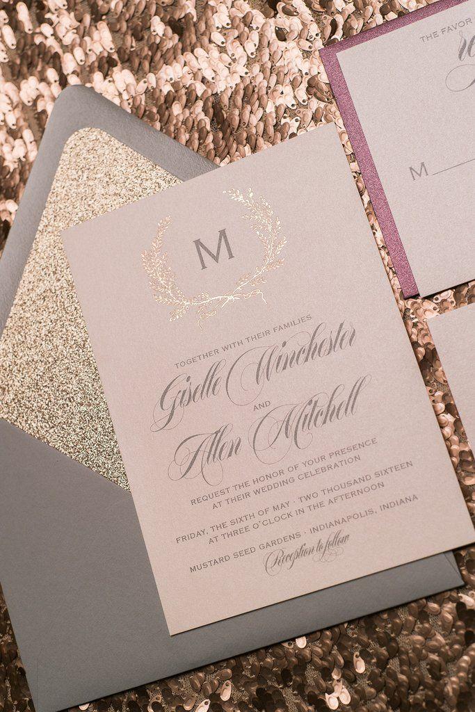 Rose Gold Wedding Invitation Inspiration Wedding Weddings Weddinginvitations Rose Gold Wedding Invitations Wedding Invitations Diy Gold Wedding Invitations