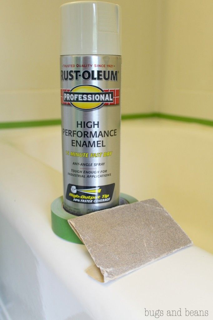 Perfect Rust Oleum High Performance Enamel | How To Fix A Chipped Bathtub For Cheap