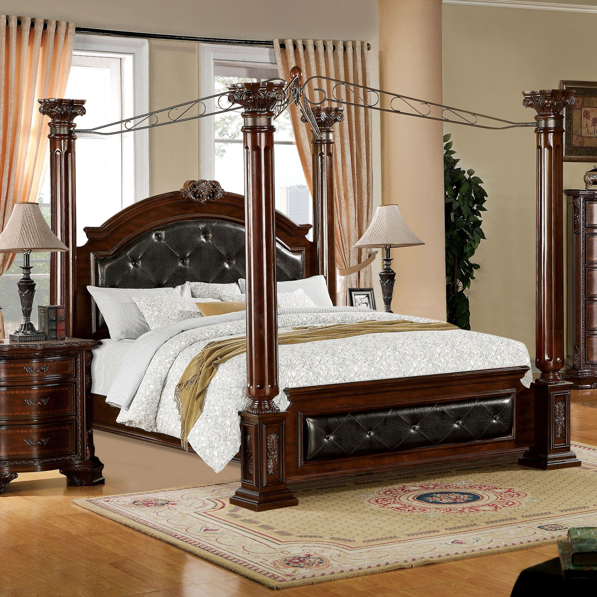 Edmore Upholstered Canopy Bed Canopy bedroom sets