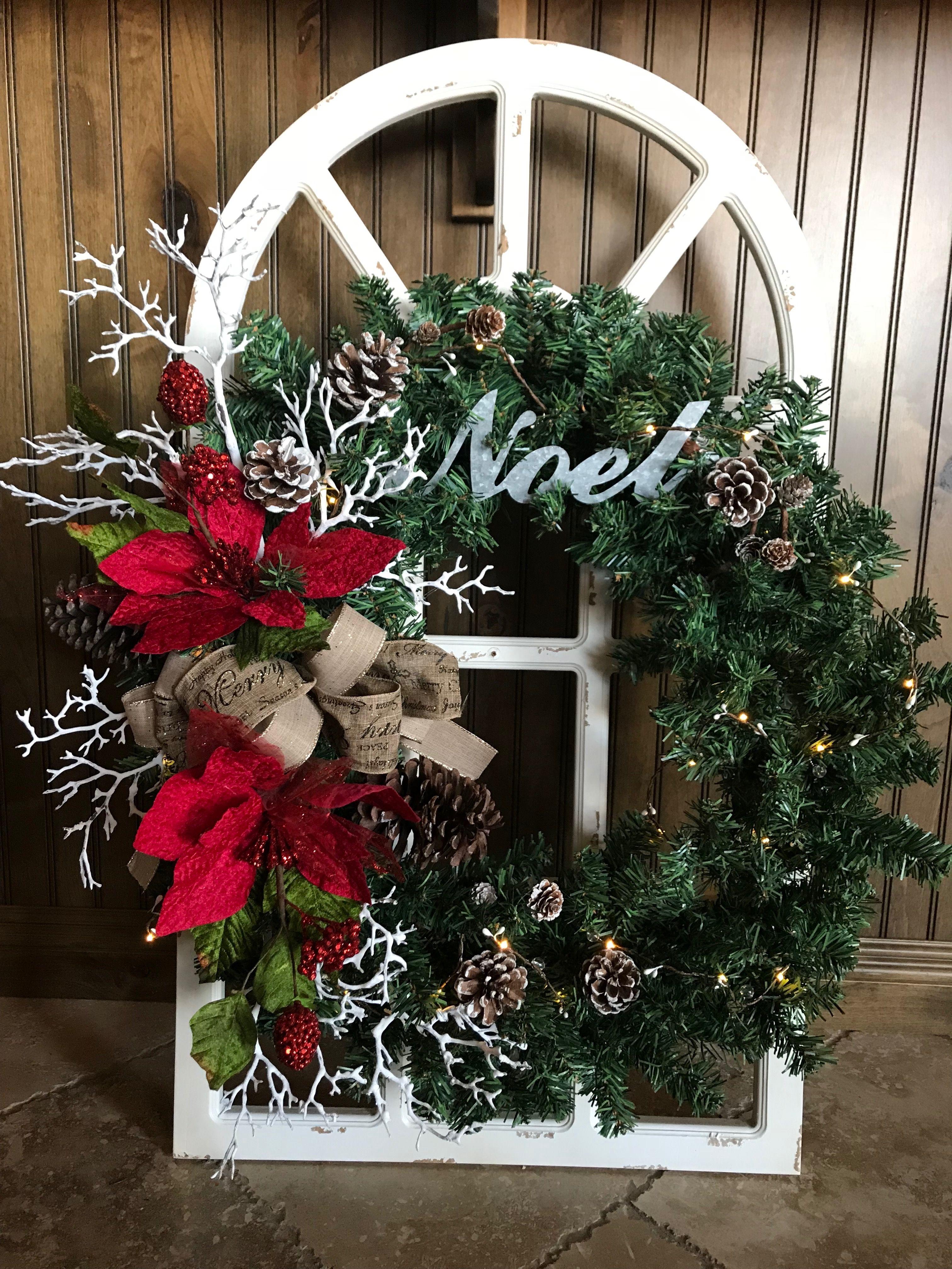 Beautiful rustic Christmas wreath Christmas decor