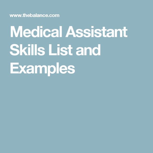 medical assistant skills resume awesome professional resume for ...