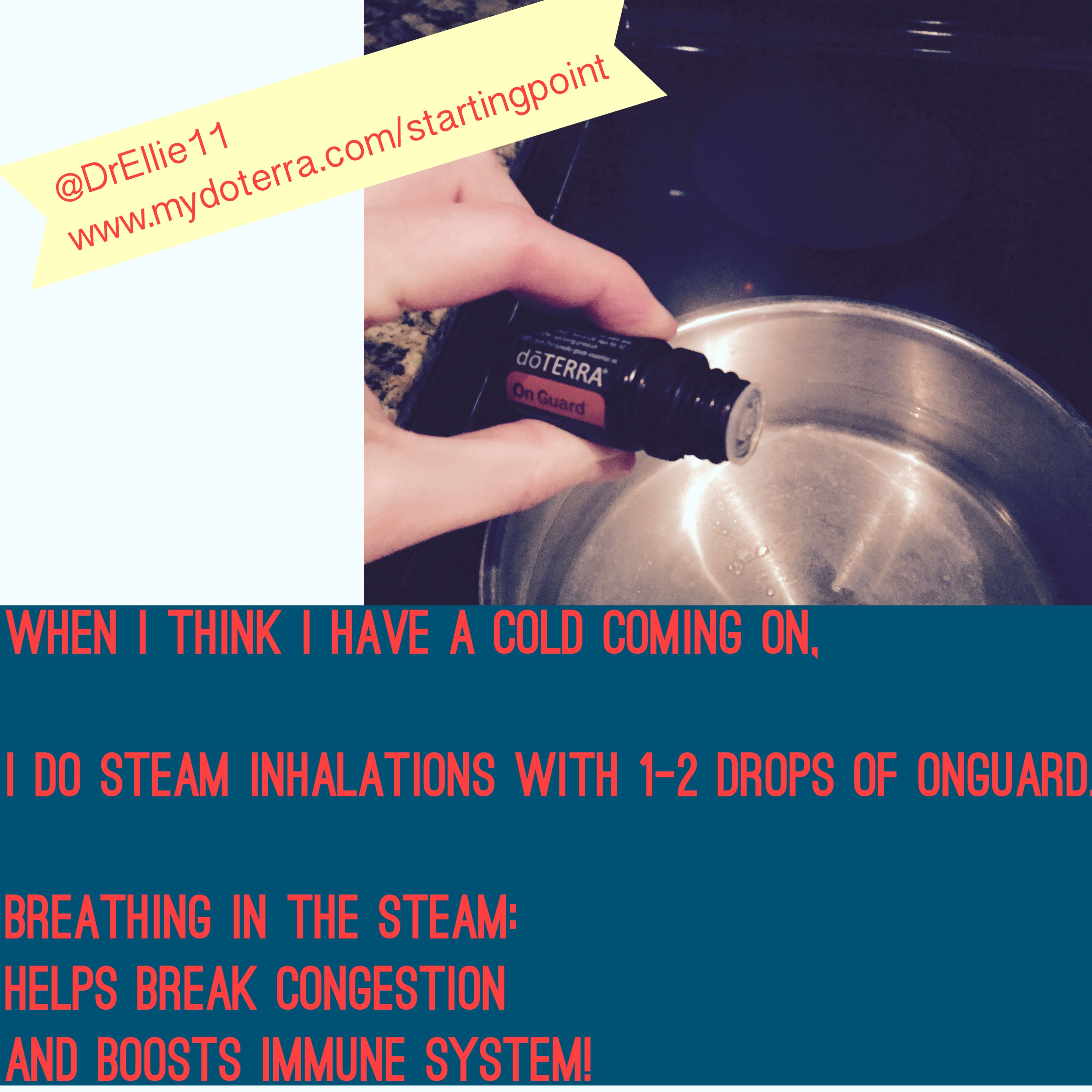 Steam inhalations are the best way to PREVENT colds