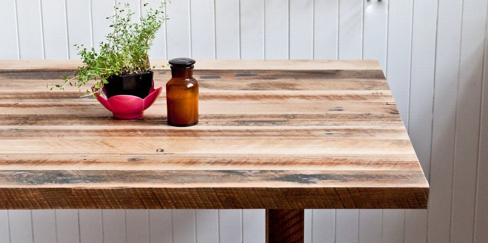 Dining Table Fom Chance Tables Made From Reclaimed Timber