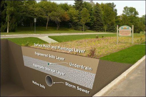 Image result for bioretention storm water pinterest for Design of retention pond