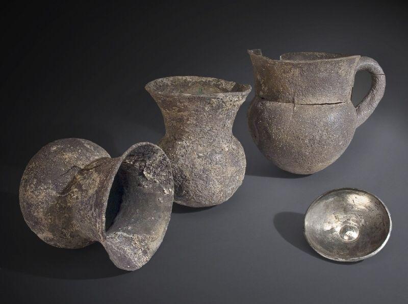 """Silver vessels from the """"Treasure of Priam"""" - about 2500 BC. Location: Troy, Turkey. © Foto: Museum für Vor- und Frühgeschichte der Staatlichen Museen zu Berlin - Preußischer Kulturbesitz"""