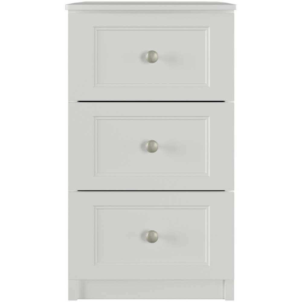 One Call Bexley 3 Drawer Bedside Table White With Images 3 Drawer Bedside Table White Bedside Table Furniture Bedside Table