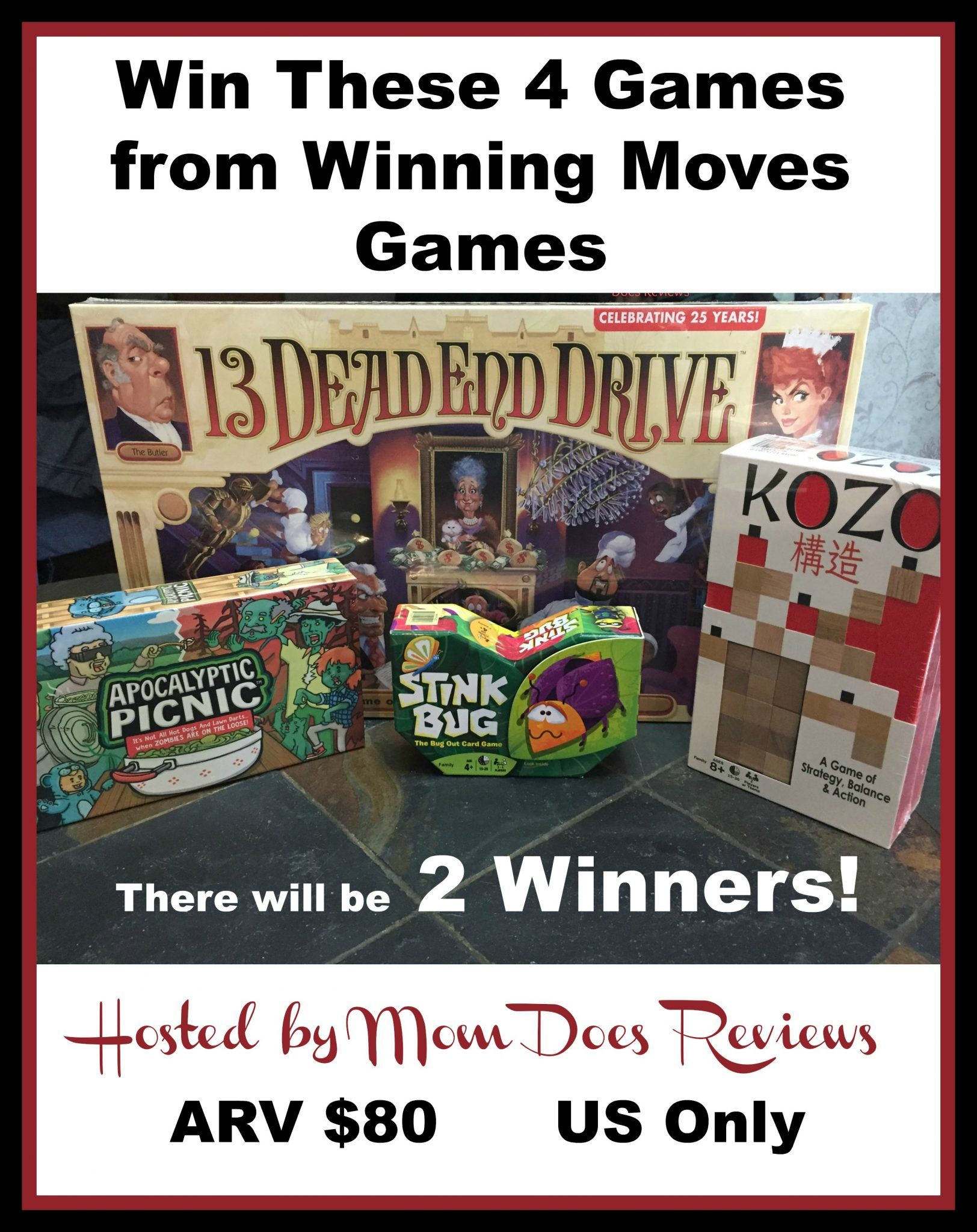 2 #Winners Will Get 4 Winning Moves Games, US, ends 4/14