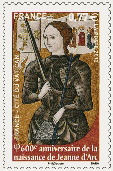 Joan of Arc Rubber Stamp