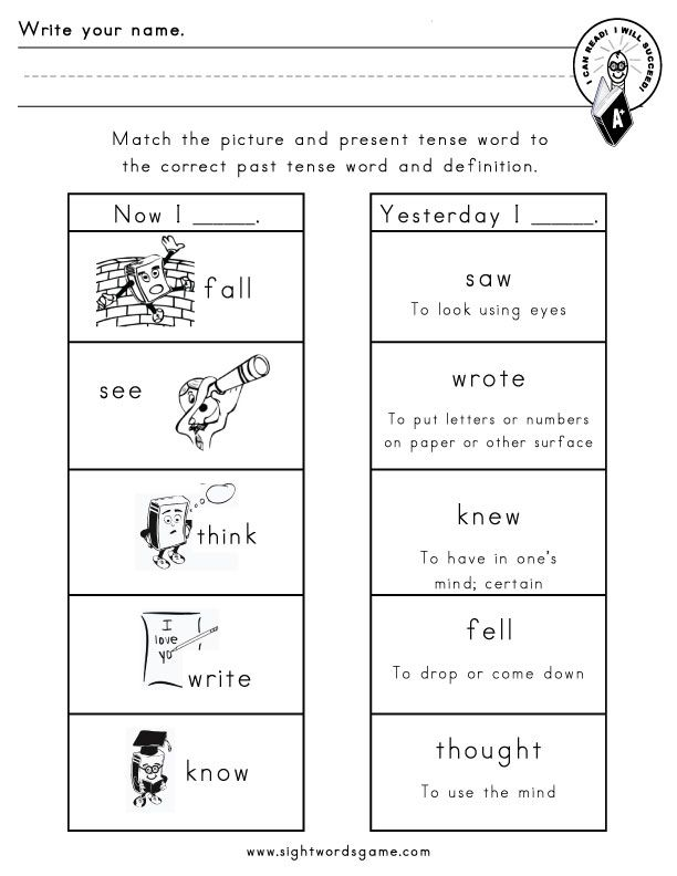 present and past tense words for ks1 printable worksheets Google – Verbs Worksheet for Kindergarten