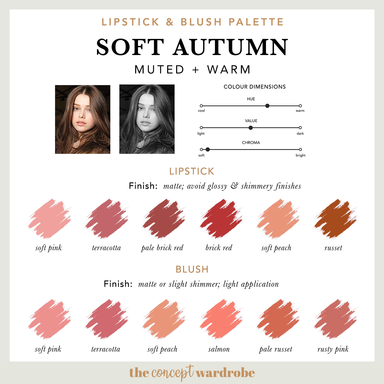 SOFT AUTUMN   Lipstick & Blush Palette