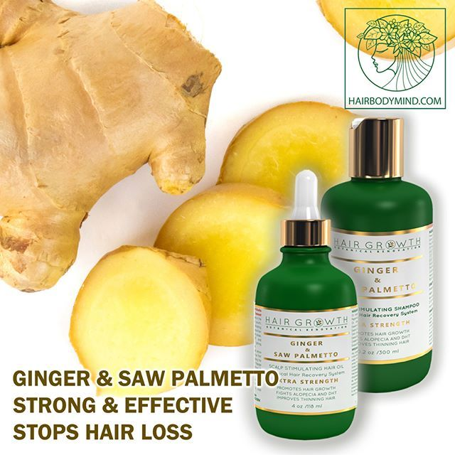 HAIR GROWTH Scalp Botanical Stimulating Ginger & Saw Palmetto stops hair loss, promotes hair growth💛Strongest known botanical hair-loss fighting bio-active components: Zingiberene, which can contribute up to 30% of the essential oil in Ginger rhizomes 🌿#hairloss #alopecia #hairlosssolution #hairlosstreatment #hairstyles #hairgoals #hairofinstagram #hairgrowth #hair #naturalhair #naturalhairstyles #hairtreatment #wholefoods #organichaircare #botanical #arab #pushup #instagood #hairday…
