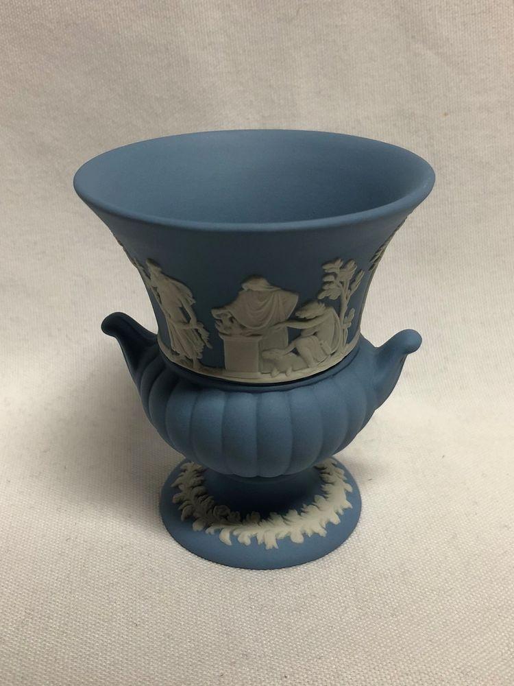 Wedgwood Blue Jasperware Miniature Urn Vase 3 38 Wedgwood Urn