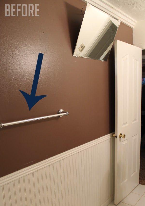 How To Make An Extra Long Towel Bar The Craft Patch Towel Bar Bathroom Towel Bar Diy Towel Rack