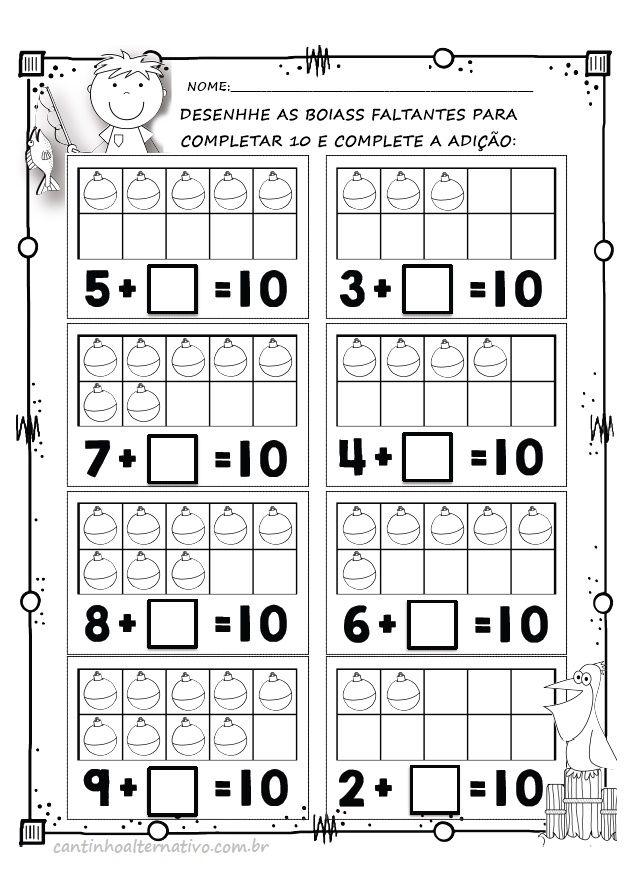 Atividades de Alfabeização Matemática - Blog Cantinho Alternativo ...