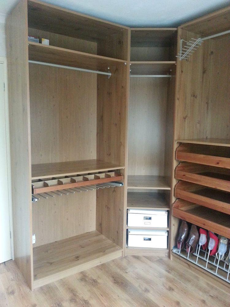 online store 4b99a fa89f X4 Wardrobe storage dressing room bedroom furniture ikea oak ...