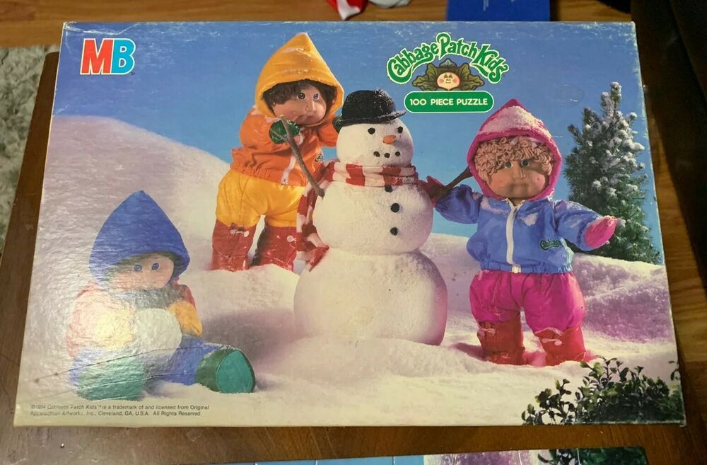 Vintage Milton Bradley 100 Piece Puzzle Cabbage Patch Kids 4476 4 Complete 1984 Miltonbradley Cabbage Patch Kids Patch Kids 100 Piece Puzzles