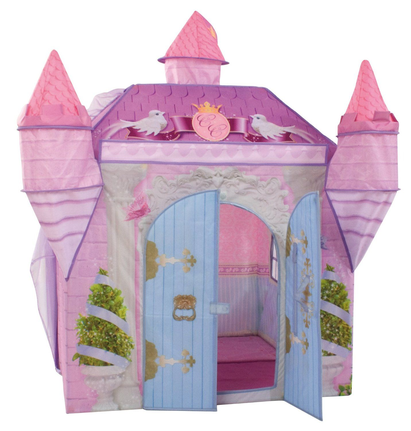 Dream Town Crystal Castle Tent with Princess Dress Costume and .  sc 1 st  Pinterest & Princess castle playhouse/puppet theatre with turrets | crafts ...