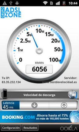 Nueva versión gratuita del Test de velocidad en Android