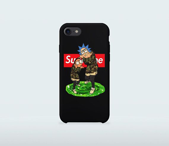 Rick And Morty Supreme Phone Case For Iphone X 8 Plus 7 6 6s 5 5s Se Samsung Galaxy S7 Edge S8
