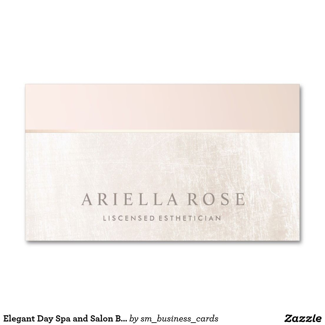 Elegant Day Spa and Salon Blush Pink White Marble Business Card ...