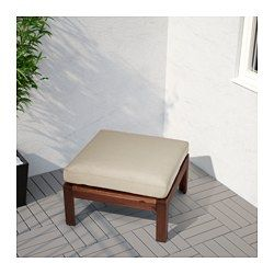 20€ IKEA - HÅLLÖ, Cojín ext, beige, , Es fácil mantener impecable la funda, ya que se quita y lava en la lavadora.El cojín dura…