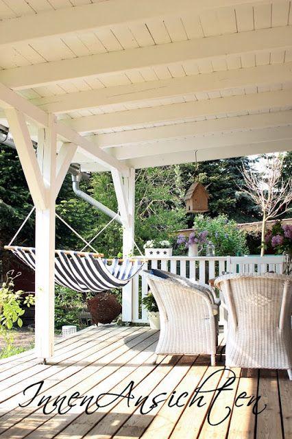 Lila Pause auf der weißen Veranda!
