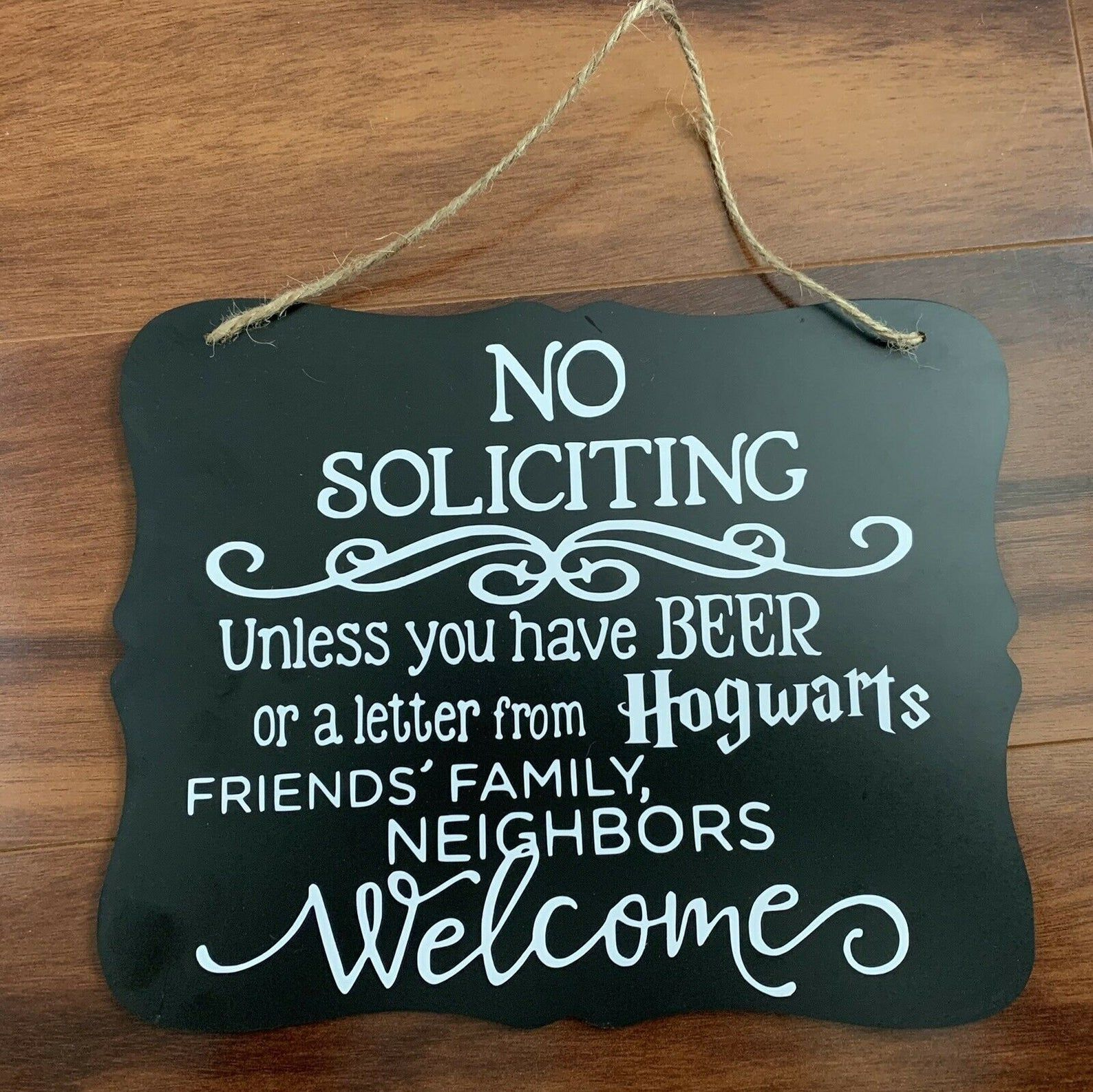 No Soliciting- Beer or Hogwarts Letter