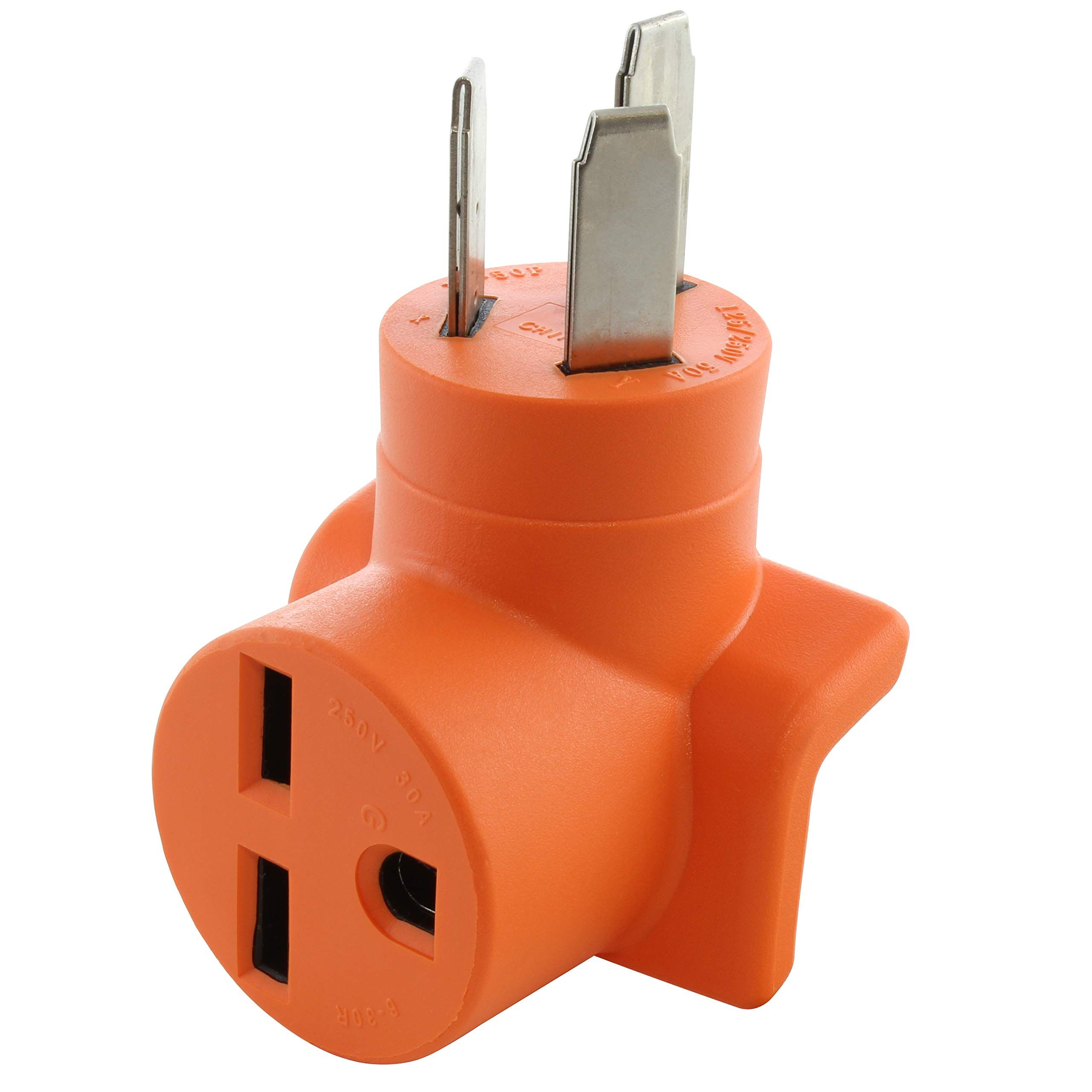 AC WORKS NEMA 1050P 50A 3Prong Plug to NEMA 630R 30A