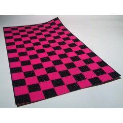 Black Diamond Scooter Grip Tape - Black / Pink Checkers