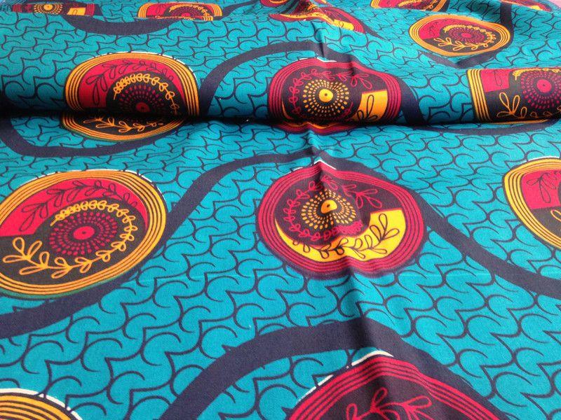 Stoff Afrikanisch Afrikanischer Stoff Kitenge Balance Ein