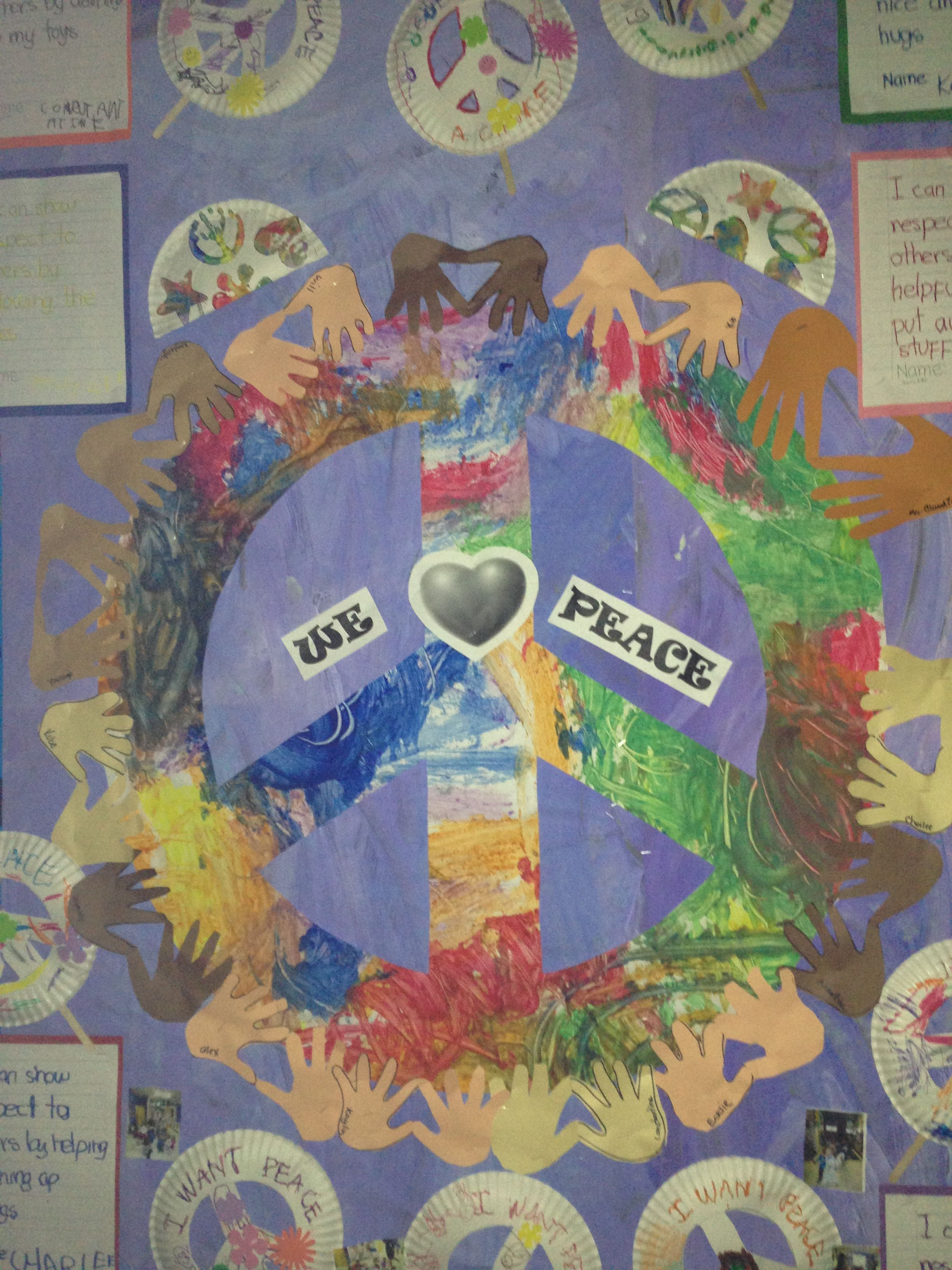 Peace and respect bulletin board | Classroom door ...