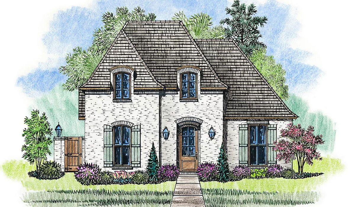 3 Bed French Country House Plan with