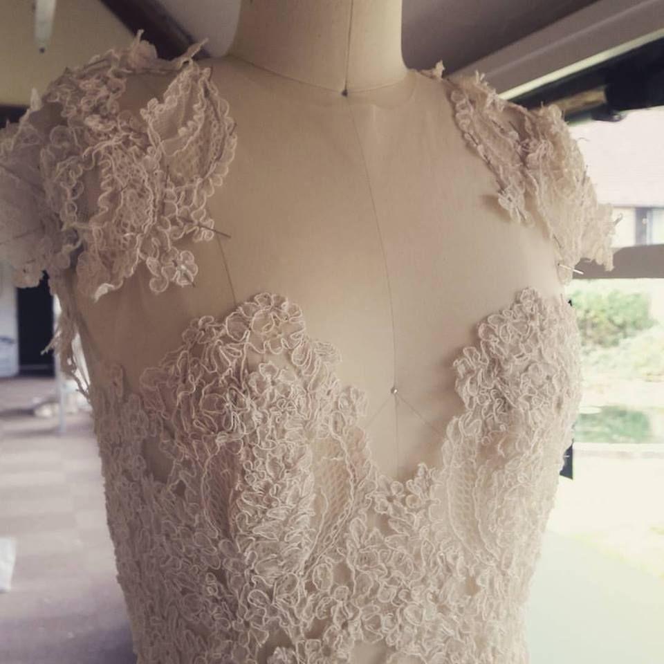 Lace shoulder details RUTH MILLIAM BRIDAL COUTURE