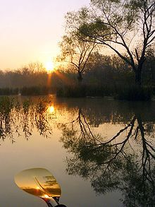 Nothing beats reflecting while looking at reflections on a calm, beautiful lake.