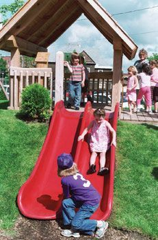 slide on backyard hill