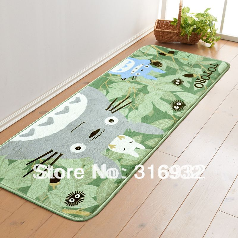 C4 My Neighbor Totoro Slip Resistant Coral Velvet Carpets For Bedroom Size 49cm 119cm Inmat From Home Garden On Ali Bedroom Carpet Carpet Sale Velvet Carpet