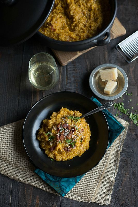 Creamy Maple Bacon Pumpkin Risotto / 30 Delicious Things To Cook In November (via BuzzFeed)