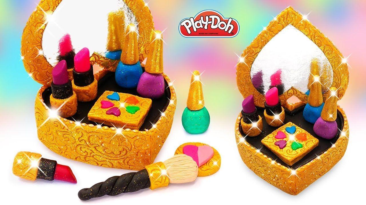 Play Doh Makeup Set Cosmetics Box 💄 How to Make DIY Play