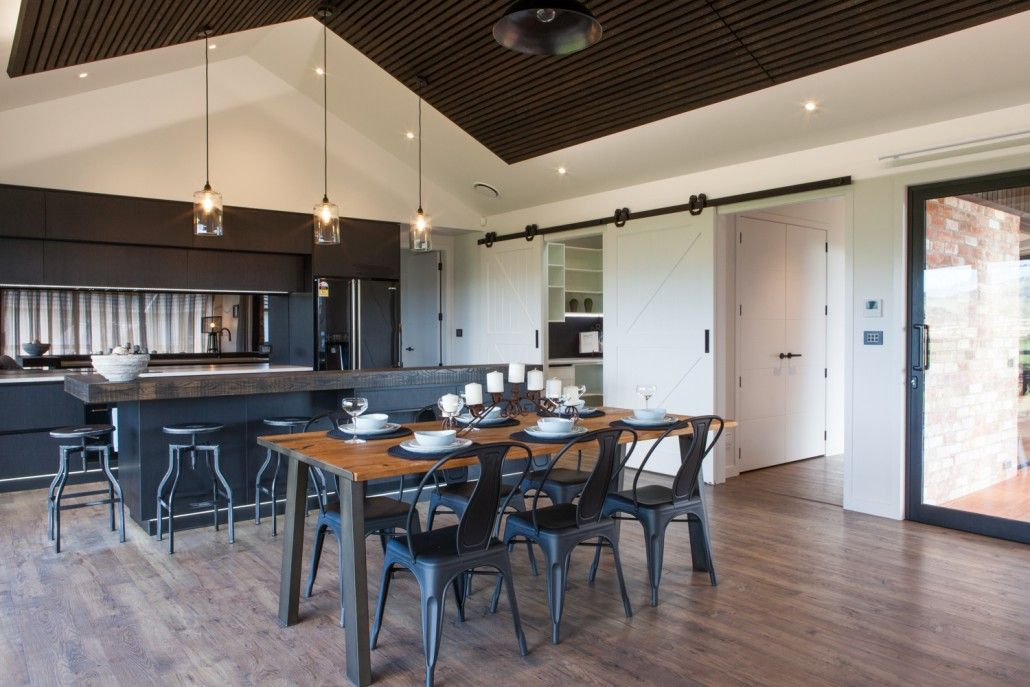 Earlier Show Homes | Contemporary house plans, Barn style ...