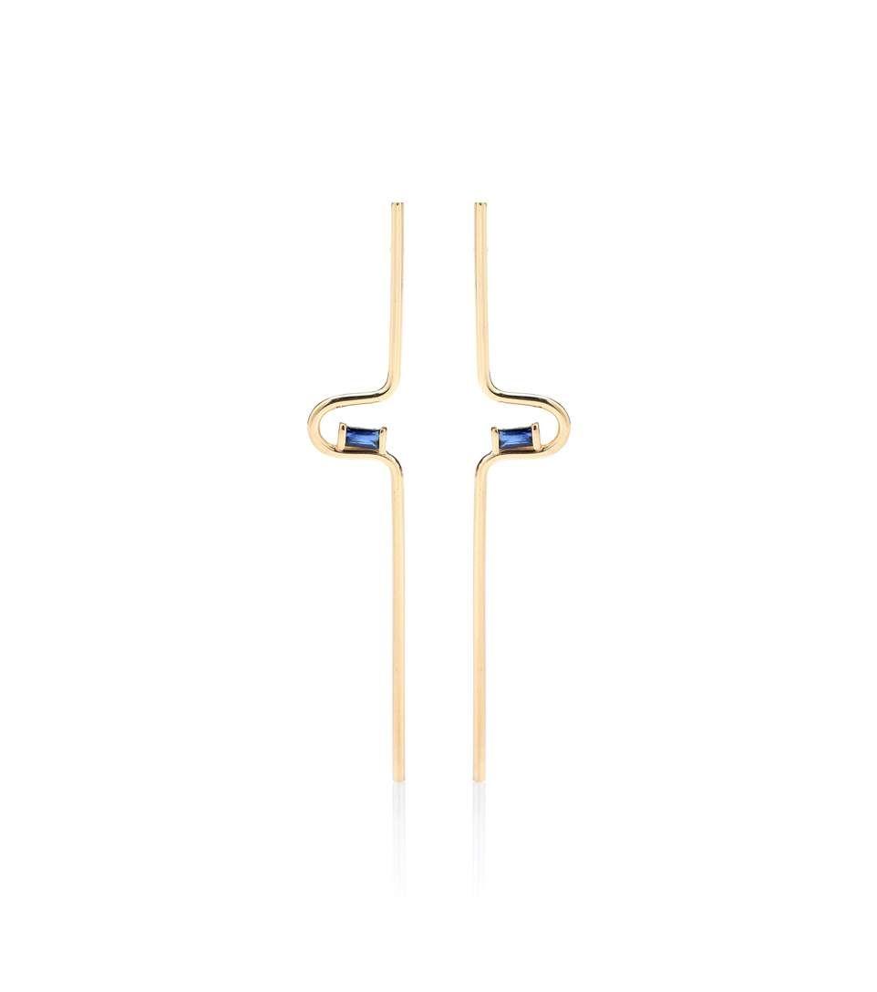 Aliita Catatumbo 9kt gold and sapphire earrings ZbOym4