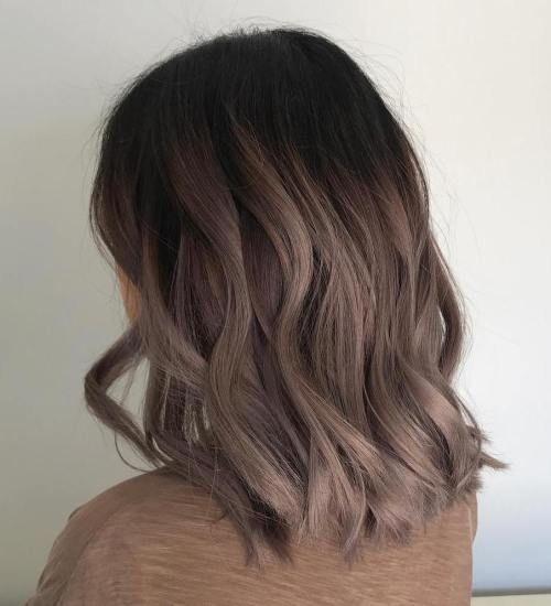 Mushroom brown wavy bob  Hairstyles in 2019  Hair styles, Hair color, Balayage hair