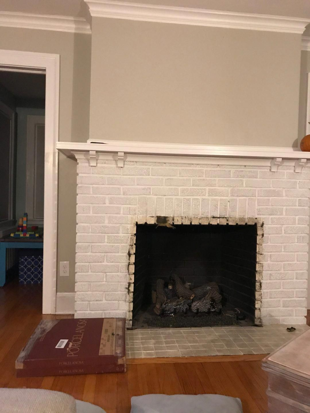 Fireplace Makeover Before And Afteer Photos Fireplace With Glass