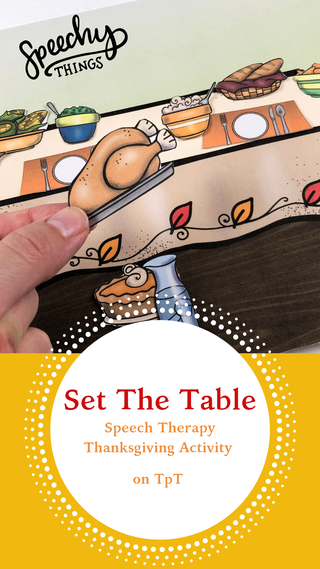Thanksgiving Activity For Speech Therapy