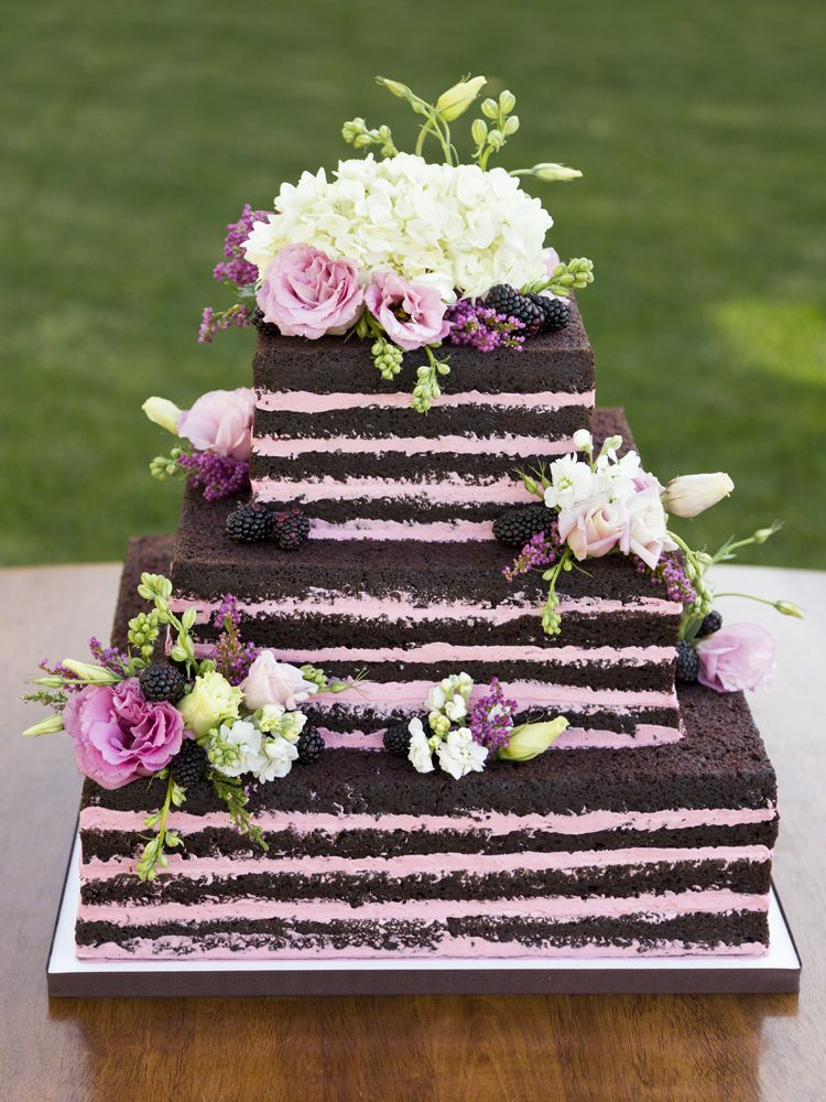 Naked Chocolate And Raspberry Wedding Cake By Cassidy Budge Cake