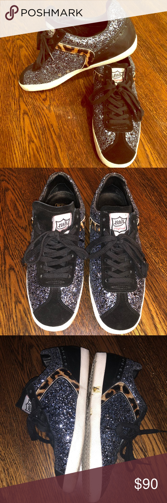 c60ecadb474a2 New Listing 💎Ash leopard   glitter sneaker ASH🌟 38🌟 leather suede parts