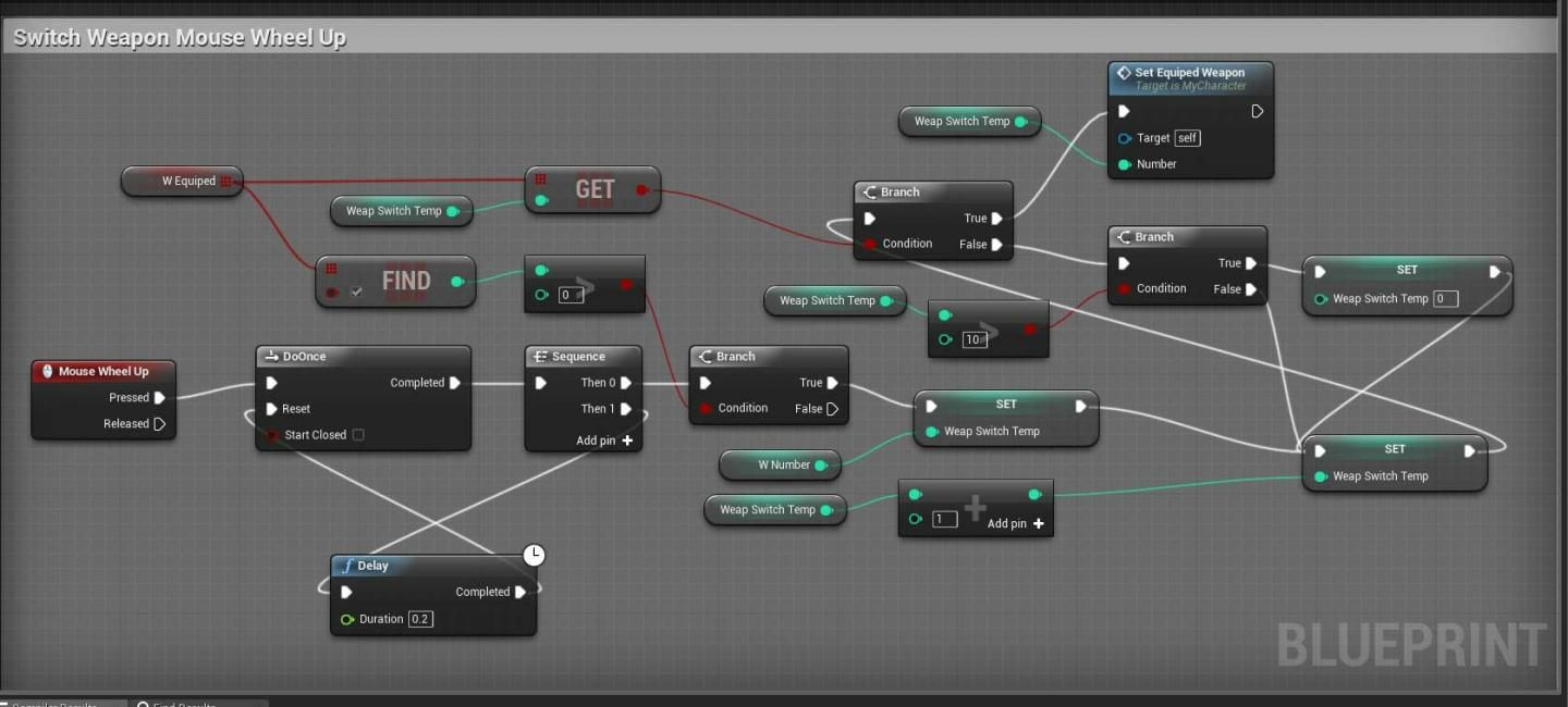 C_Switch-Weapon-Mouse-Wheel | UE4: Blueprint in 2019 | Game