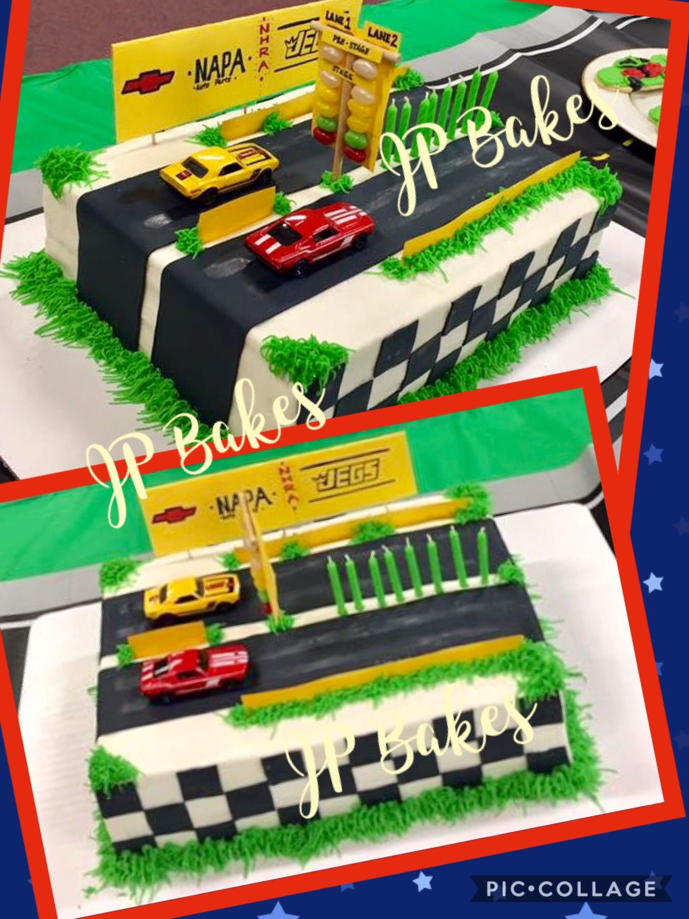 Drag Racing Birthday Cake By Jp Bakes Cars Strip Fast Sd Burn Out